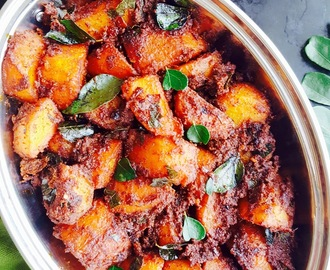 Potato Ghee Roast Recipe / Mangalorean Potato Ghee Roast Recipe