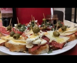 COMO PREPARAR MONTADITOS O TAPAS ESPAÑOLAS  How to prepare spanish mounts