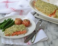 Baked Salmon with Herb Sauce