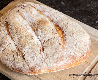 Italian Garlic No Knead Bread