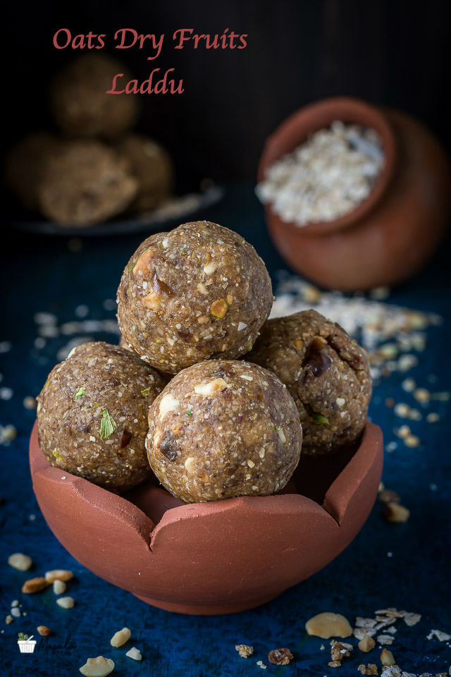 Oats Dry Fruits Laddu | Oats Laddu Recipe | How to make Oats Ladoo | Oats Laddu with Dates | Oats Mixed Nuts Laddu | Easy Ladoo | Quick Diwali Sweets