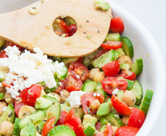 Chickpea, Tomato, and Feta Salad