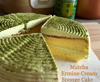 Mini Rice Cooker Matcha Ermine Cream Sponge Cake