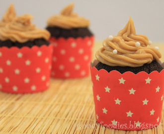 I baked: Chocolate cupcake with peanut butter frosting
