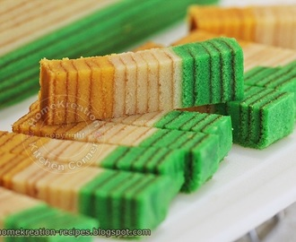 Kek Lapis Cheese Horlicks (Cheese Horlicks Layered Cake)
