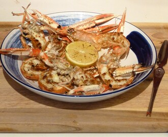 Grilled Scottish Langoustines with Lemon and Pepper Butter Recipe
