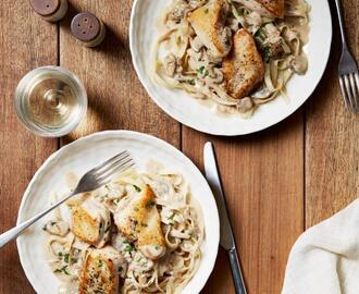 Chicken with Mustard Mascarpone Marsala Sauce