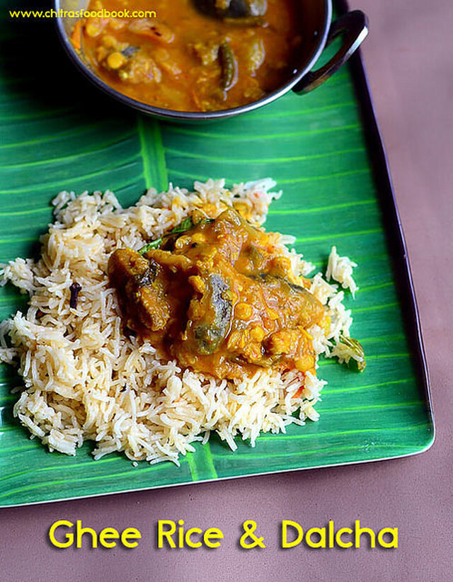 Veg Dalcha Recipe, Ghee Rice – Brinjal Gravy For Biryani
