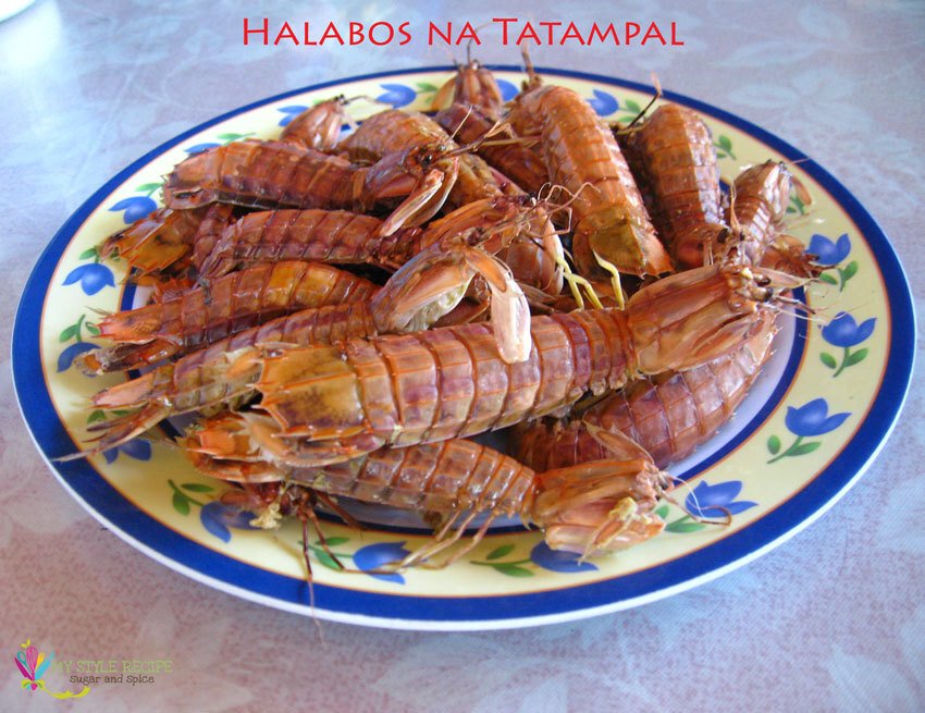 Halabos na Tatampal (Steamed Mantis Shrimp)