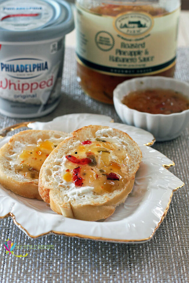 Roasted Pineapple & Habanero with Cream Cheese Appetizer