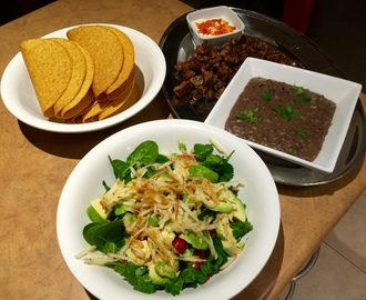 Pork Tacos with Black Beans & Green Salad