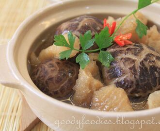 Recipe: Fish Maw with Mushrooms Stew