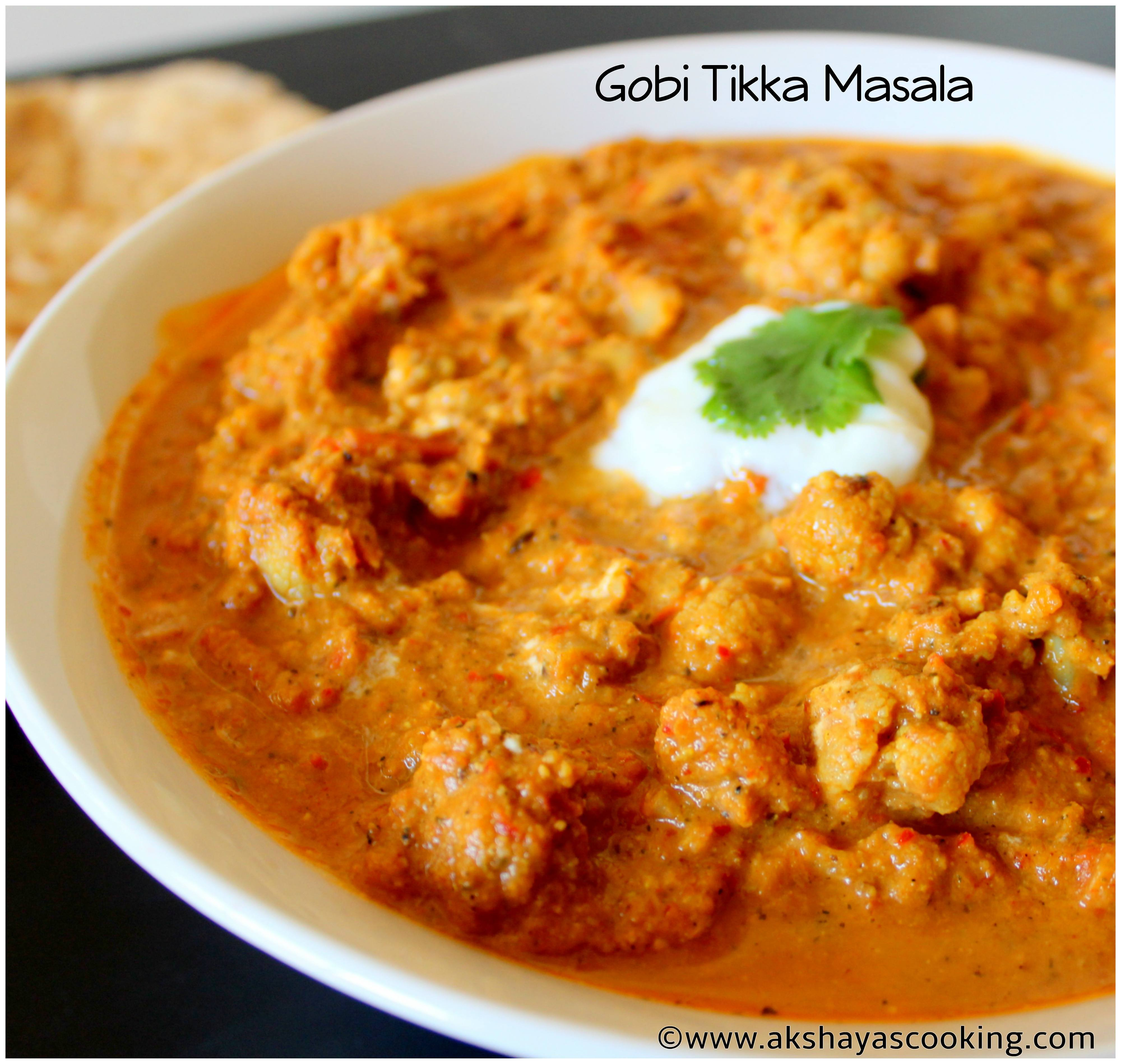 Gobi Tikka Masala | Cauliflower curry