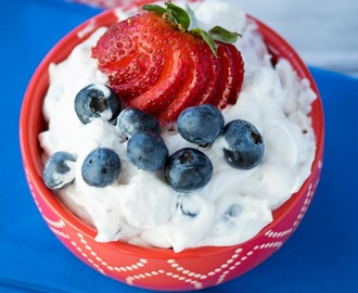 Red White and Blue Fluff Salad