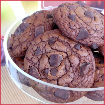 Cookies au chocolat de Martha Stewart (outrageous chocolate cookies)