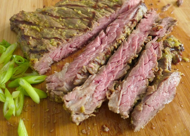 Grilled Sesame Scallion Steak
