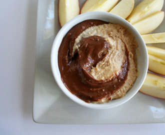 Chocolate and Peanut Butter Swirl Dessert Dip