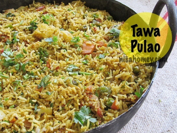 Tawa Pulao Recipe - Mumbai Style Tava Pulav - Indian Rice Recipes