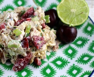 Chicken Salad with Fresh Cherries & Walnuts