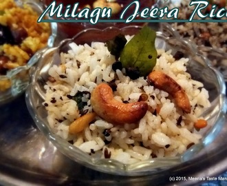 Milagu Jeera Rice - A mouth watering combination of Cumin and Black Pepper!