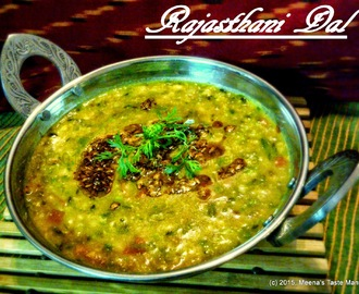 Rajasthani Dal - A three lentil mixed, mildly spiced dal
