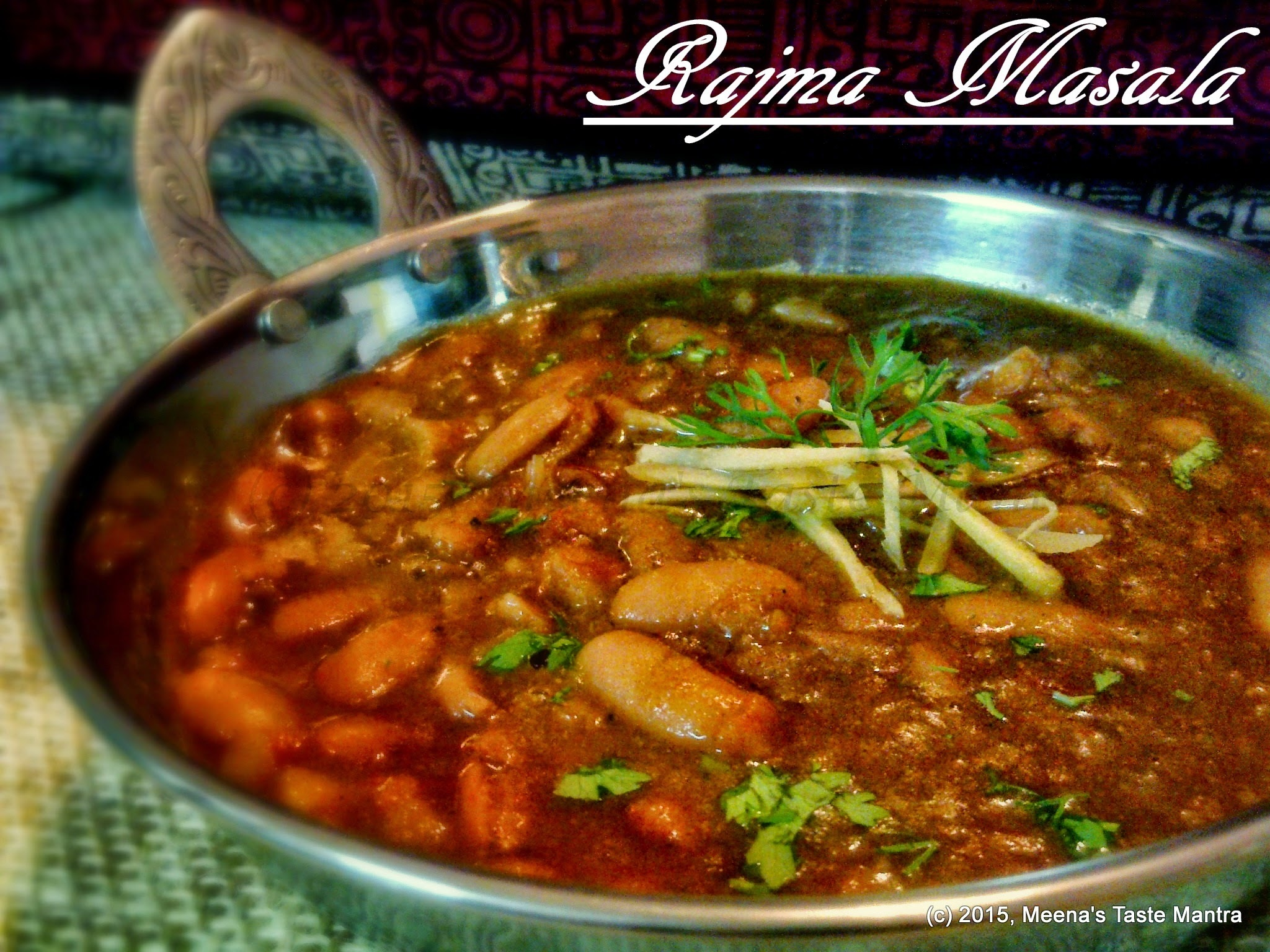 Rajma Masala - A delicious White Kidney Beans curry!
