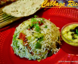 Cabbage Rice - easy to make, simple but classic flavoured pilaf