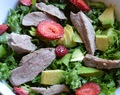 Strawberry and Avocado Salad with Oven-Roasted Duck