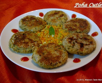 Poha Cutlet | Flattened Rice Cutlet
