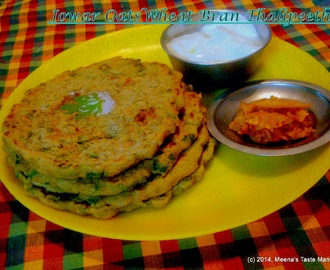 Jowar Oats Wheat Bran Thalipeeth - A healthy flatbread