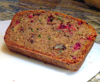 Zucchini Bread with Cranberries and Pecans