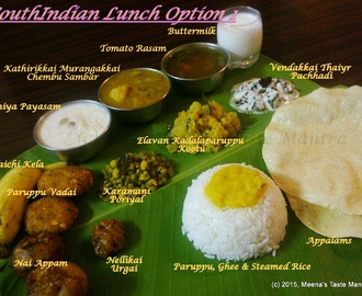 SouthIndian Lunch Option 1