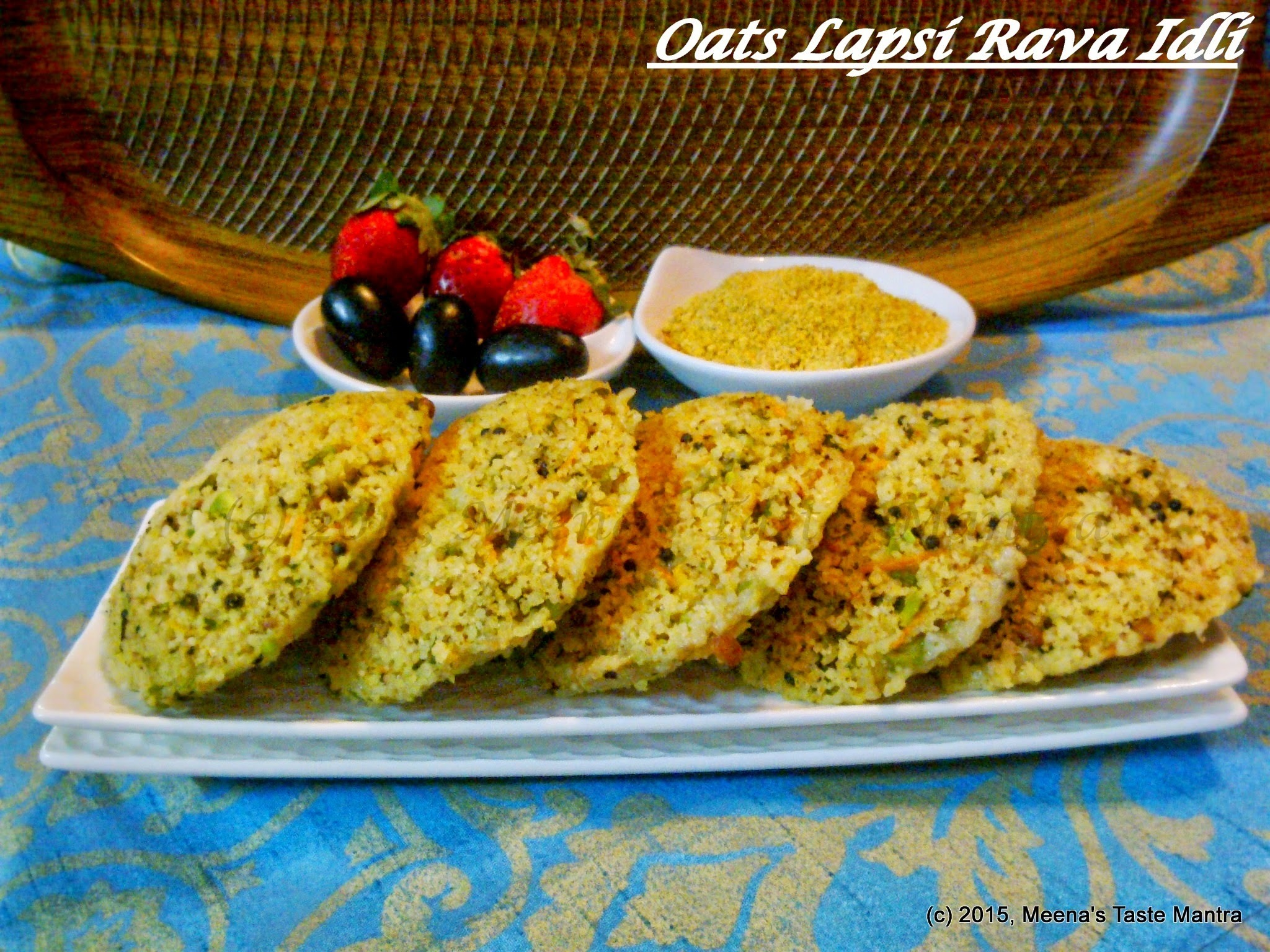 Oats Lapsi Rava Idli | Oats Cracked Wheat Semolina Idli