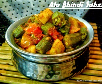 Alu Bhindi Sabzi | Potato Okra flavoured with Indian Spices