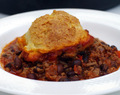 Beef Chili Cobbler