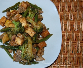 Pork, Veggies, And Tofu Stir-Fry