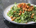 Recipe of the Week: Creamy Avocado Caesar Salad with Roasted Chick Pea Croutons