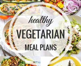 Healthy Vegetarian Meal Plan: Week of 7-16-16