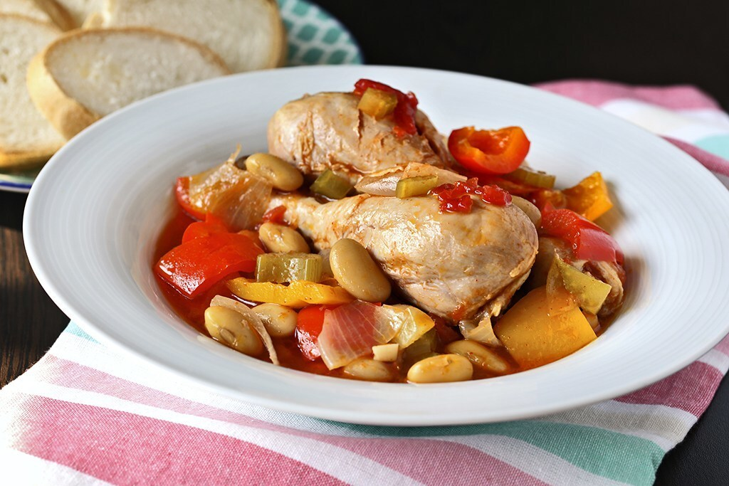 Chicken and Butter Beans Stew