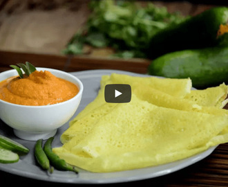 Cucumber Dosa & Chutney Recipe Video