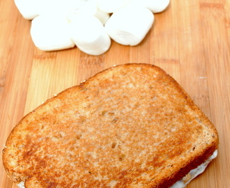 Grilled Peanut Butter and Marshmallow Sandwich