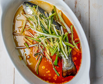 Easiest Steamed Fish with Soy & Ginger