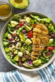 Chicken and Avocado Salad with Skinny Creamy Dressing