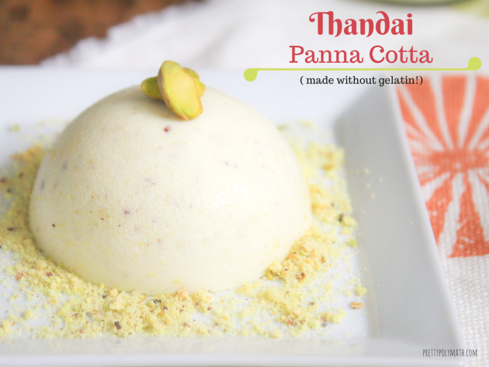 Thandai Panna Cotta