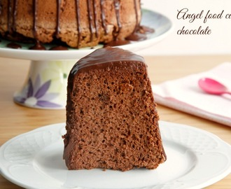 Angel food cake de chocolate