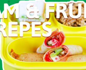 Jam and fruit crepes recipe