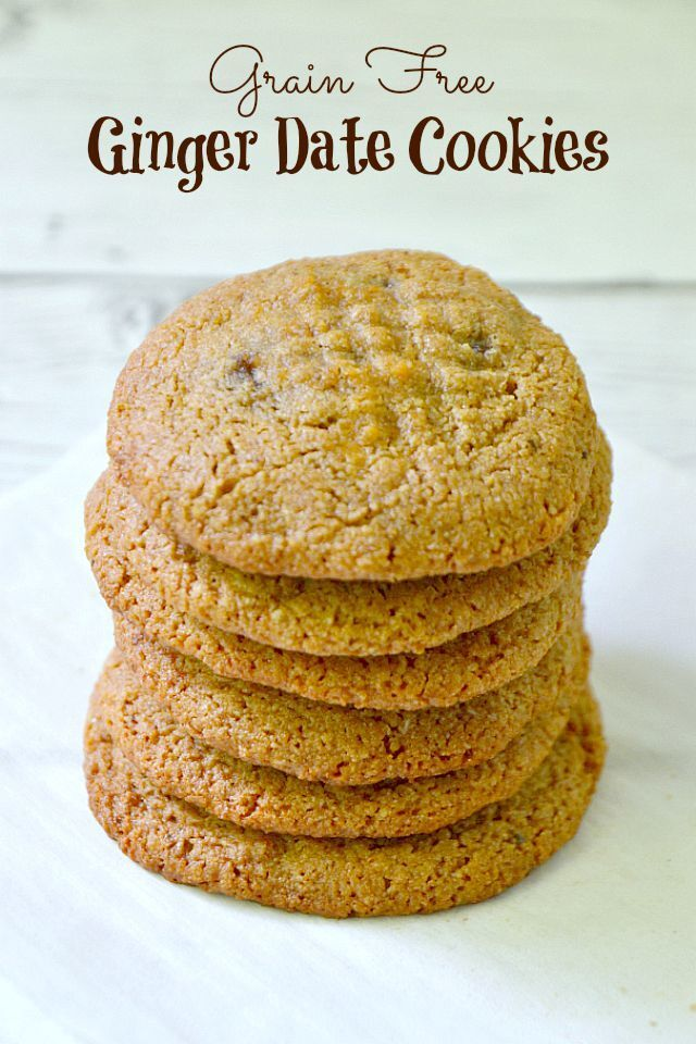 Ginger Date Cookies {Grain Free}