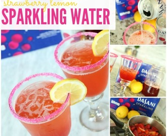 Mocktail Recipe | Strawberry Lemon Sparkling Water
