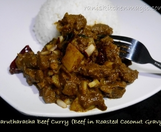 Varutharacha Erachi/Meat/Beef Curry Kerala Style (Beef In Roasted Coconut Gravy)