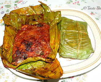 Karimeen Pollichathu/Pearl Spot Cooked in Banana Leaves